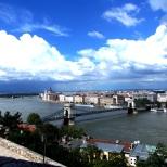 Vista da colina de Buda. Ponte das correntes