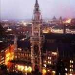 Vista de Munique, pela torre da igreja