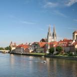 Vista da cidade de Regensburg