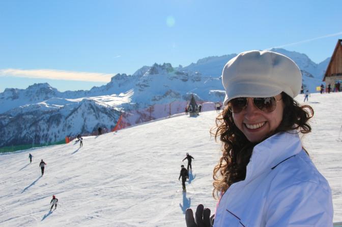Esquiando no parque