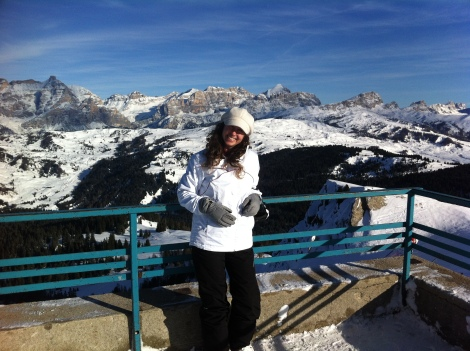 Na montanha mais alta do parque de esqui em Corvara. São mais de 4 mil metros de altitude. Lindo, espetacular, monumental!